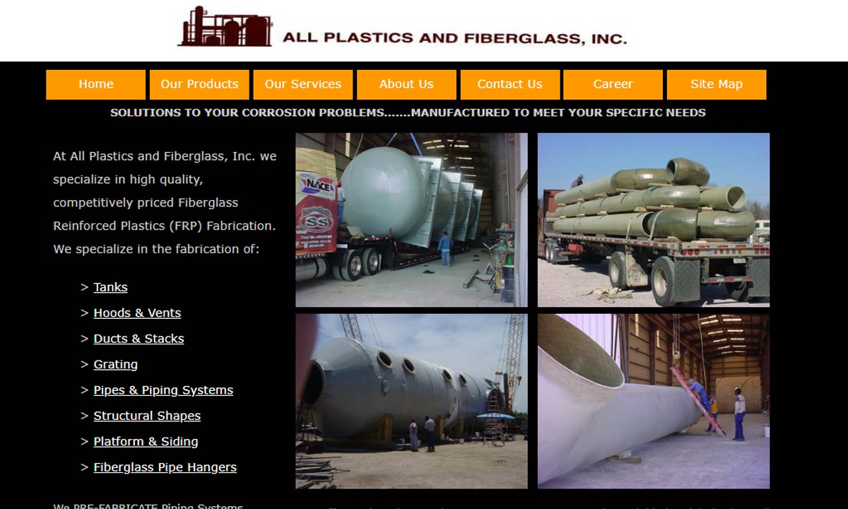 All Plastics and Fiberglass, Inc.