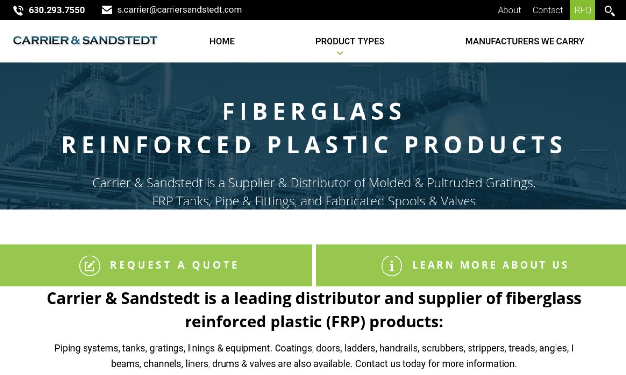 Carrier & Sandstedt, Inc  | Fiberglass Fabricators