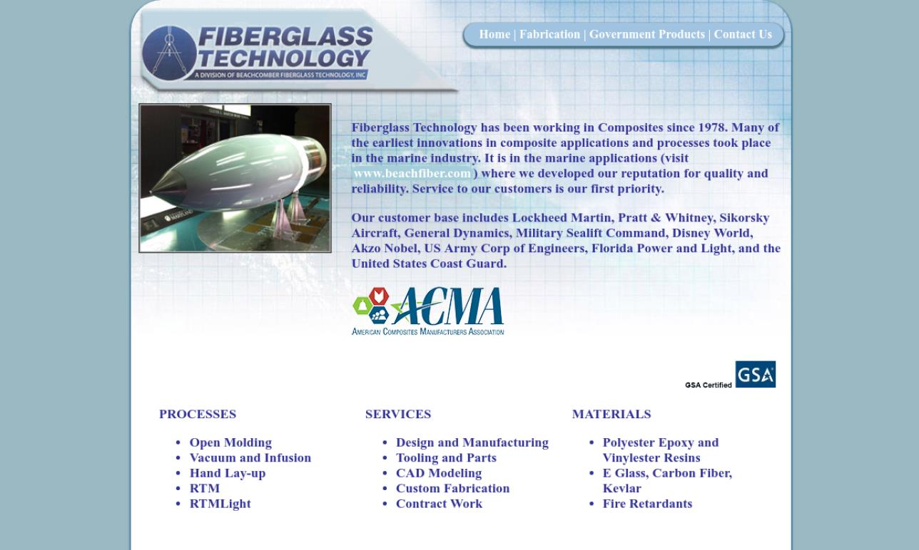 Fiberglass Technology, Division of Beachcomber