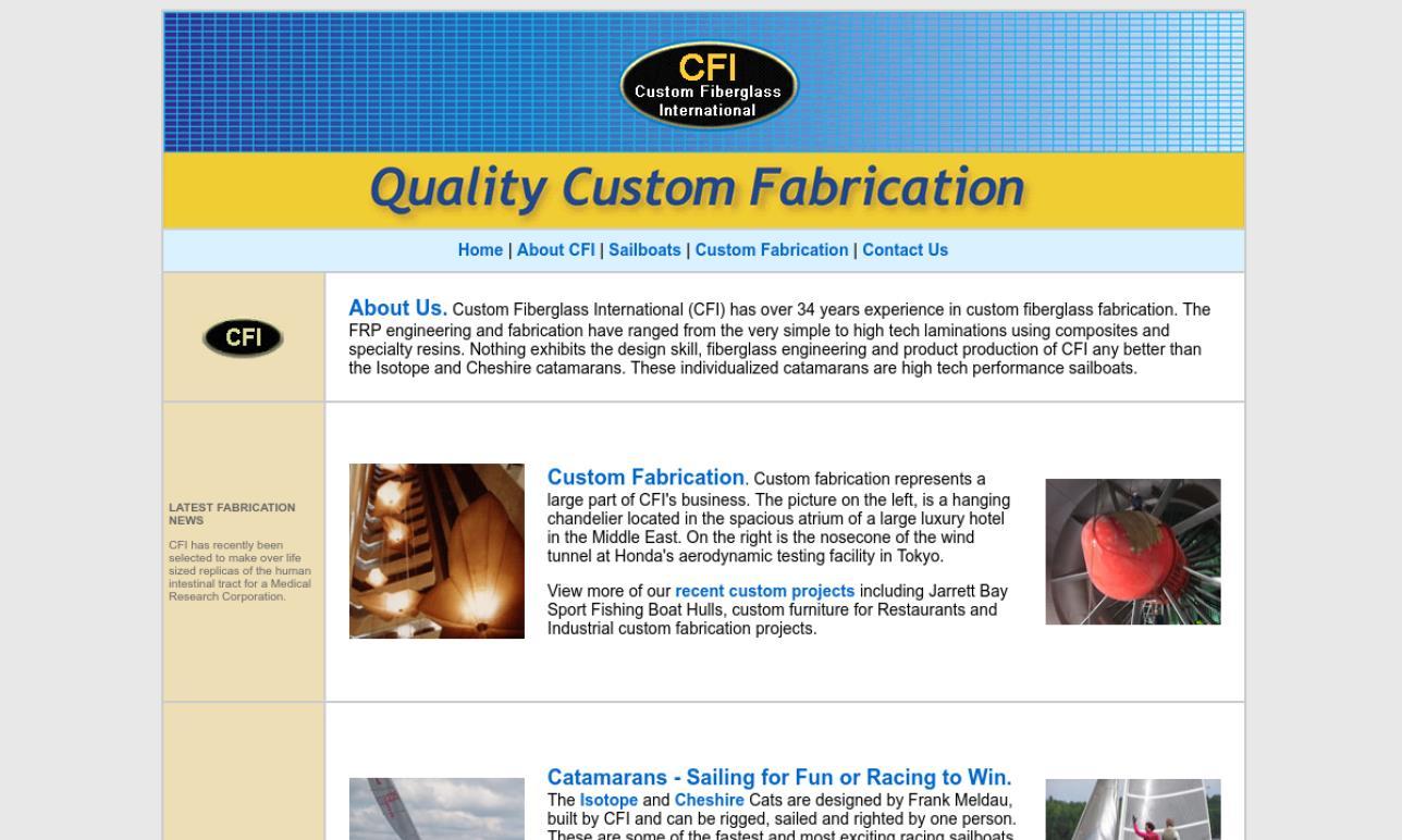 CFI Custom Fiberglass International | Fiberglass Fabricators